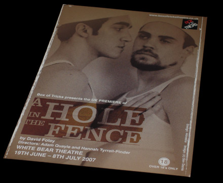a hole in the fence promotional flyer